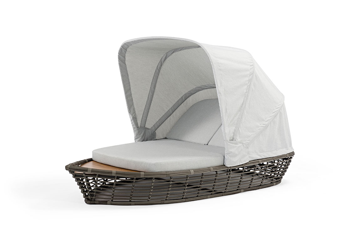 180501 Escapade double lounger with canopy